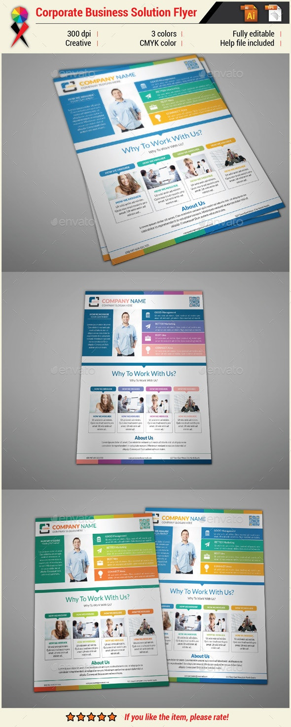 Corporate Infographic Flyer - Corporate Flyers