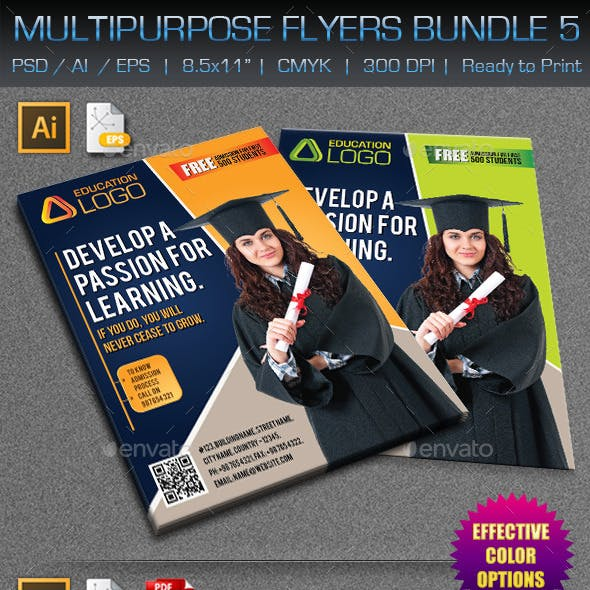 Creative Multipurpose Flyers Bundle 5