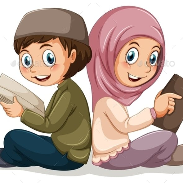 Muslim Boy and Girl
