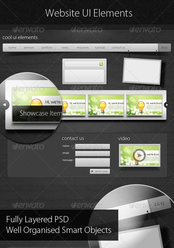 Web UI Assets, Web Elements, Boxes & Buttons - Web Elements
