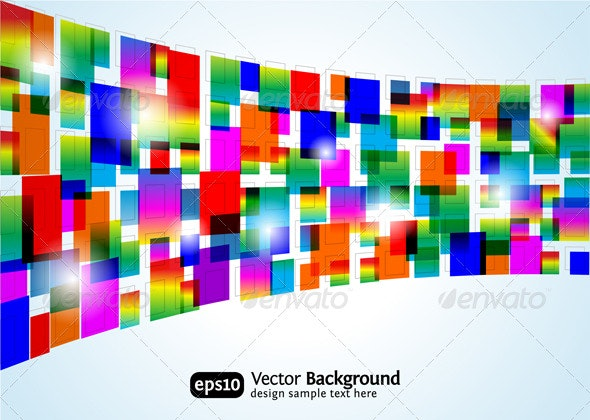 Abstract colorful background - Backgrounds Business