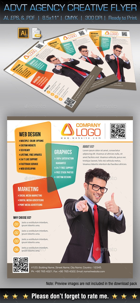 Creative Agency / Advertising Agency Flyer - Corporate Flyers