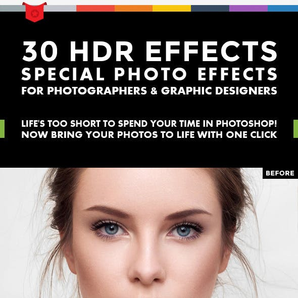 30 HDR Effects - Photoshop Actions V.2