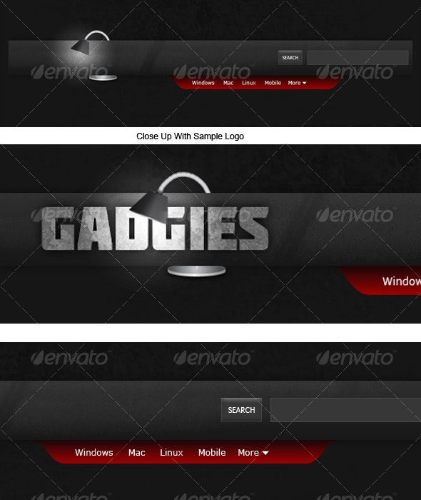 Gadget and Tech Inspired Header/Navigation - Miscellaneous Web Elements