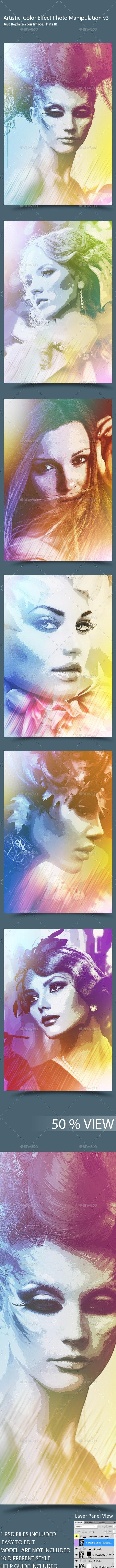 Color Effect Photo Manipulation v3 - Artistic Photo Templates