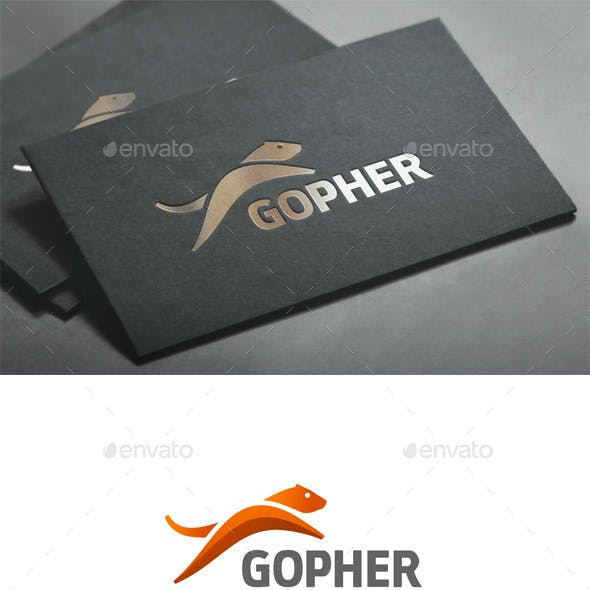 Jumping Gopher on Text