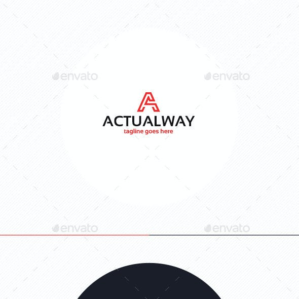 Actual Way Logo • Letter A
