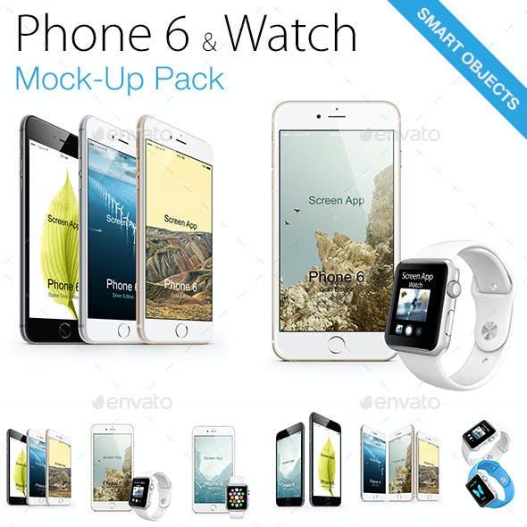iPhone 6s & Watch Mock-ups