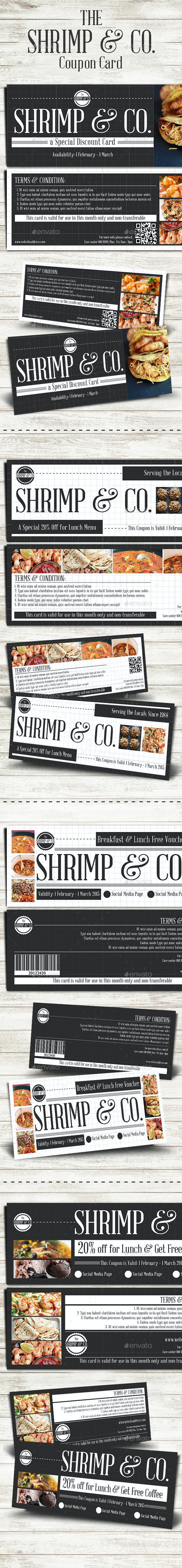 Seafood Cafe Coupon Card - Loyalty Cards Cards & Invites