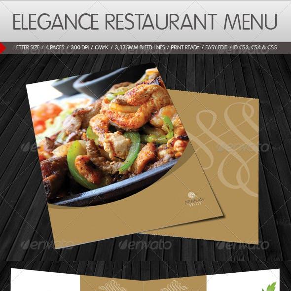 Elegance Restaurant Menu