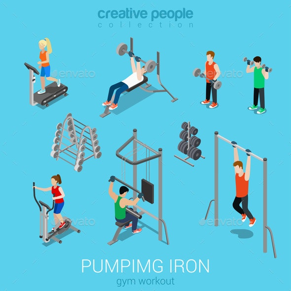 Gym  - People Characters
