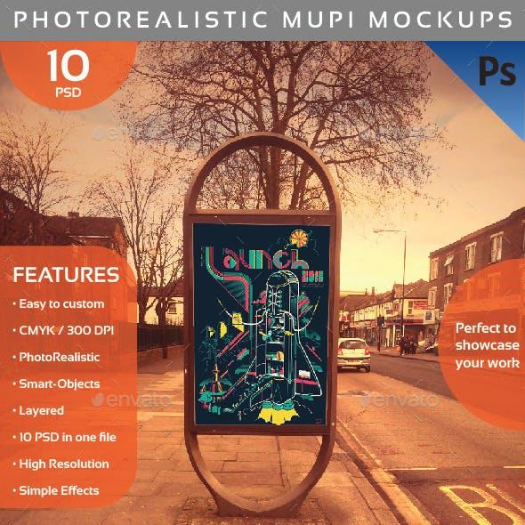 Photorealistic Mupi Mockup