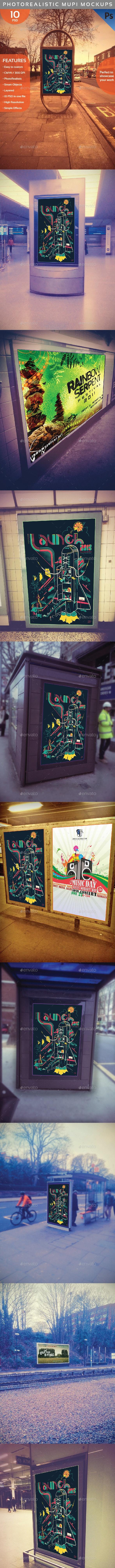 Photorealistic Mupi Mockup - Signage Print