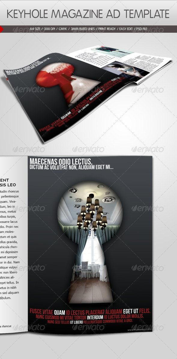 Keyhole Magazine Ad Template - Magazines Print Templates