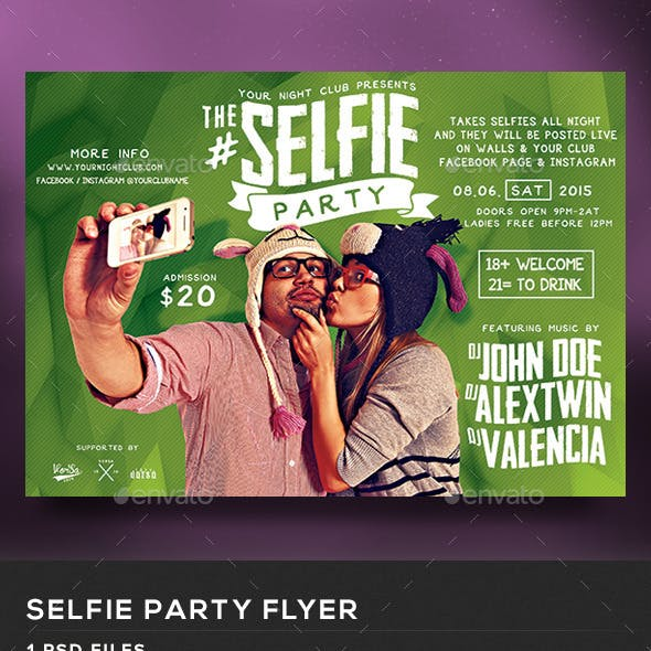 The Selfie Party Flyer