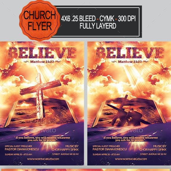 Believe Church Flyer