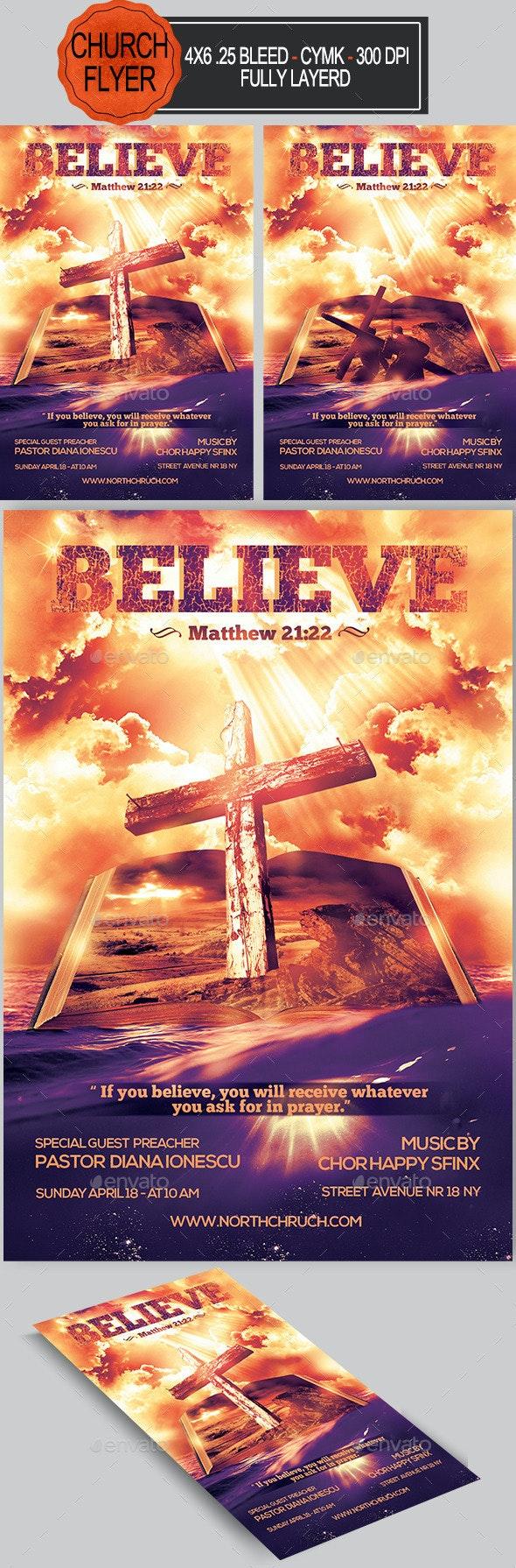 Believe Church Flyer   - Church Flyers