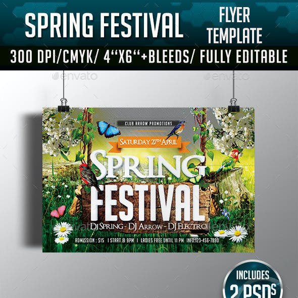 Spring/ Easter Festival Flyer Template