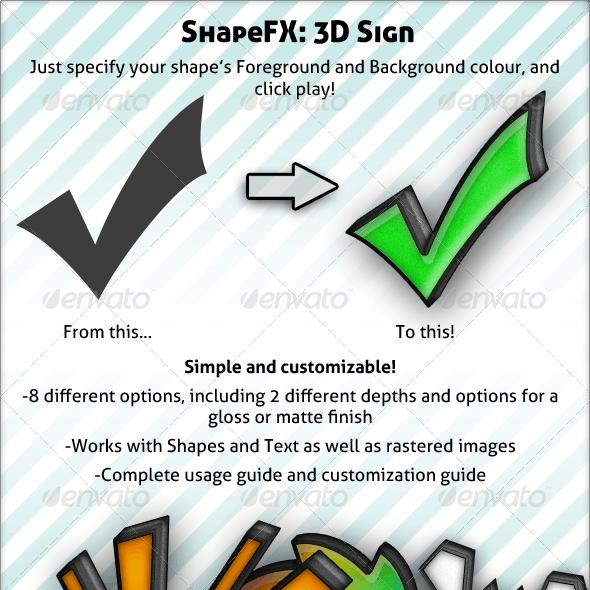 ShapeFX - 3D Sign