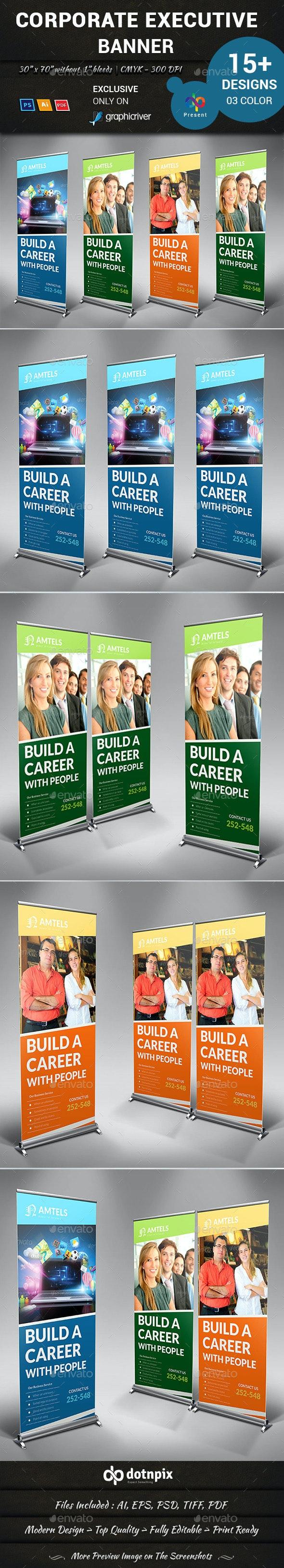 Corporate Executive Banner - Signage Print Templates