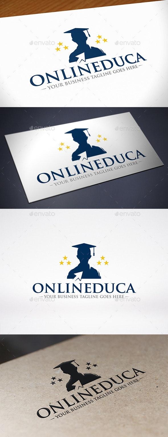 Online Education Click Logo Template - Crests Logo Templates