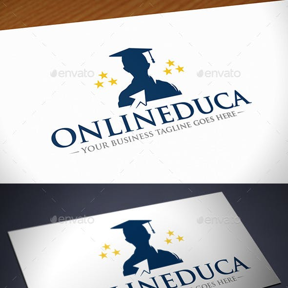 Online Education Click Logo Template