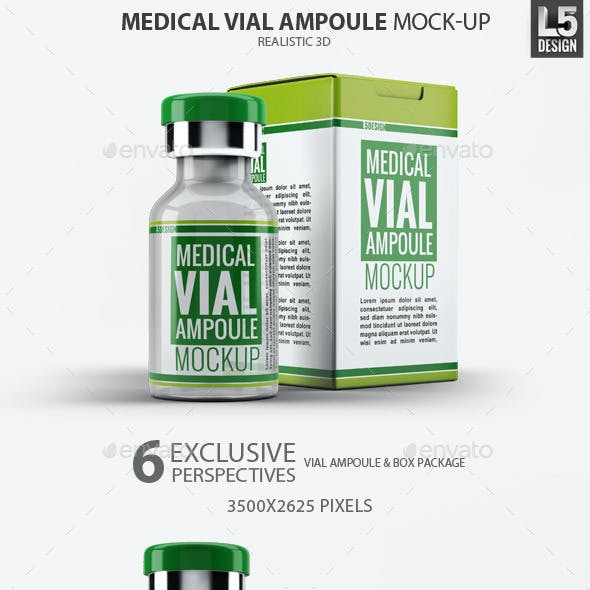 Medical Vial Ampoule Mock-Up