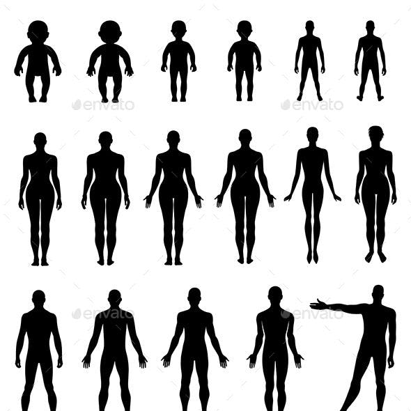 Human Silhouette Set