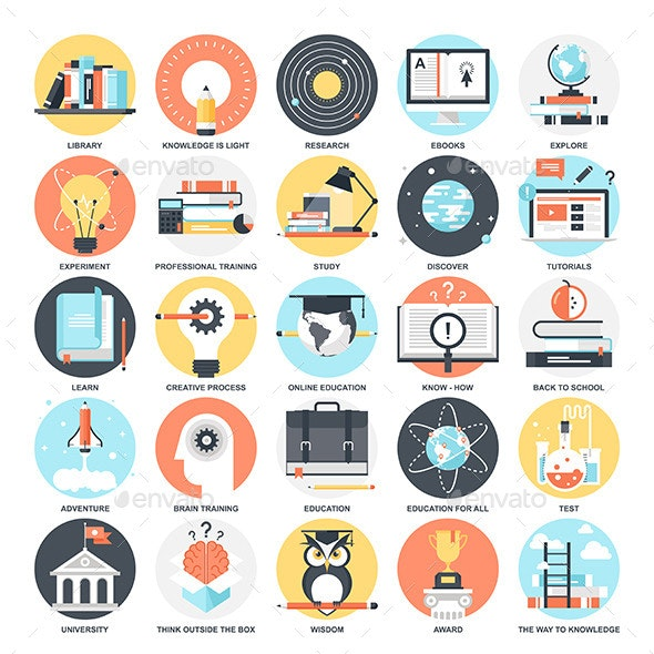 Education Icons  - Miscellaneous Characters