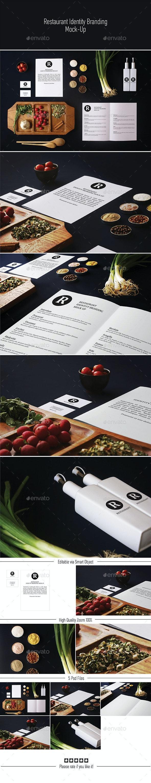 Restaurant Identity Branding Mock-Up  - Stationery Print