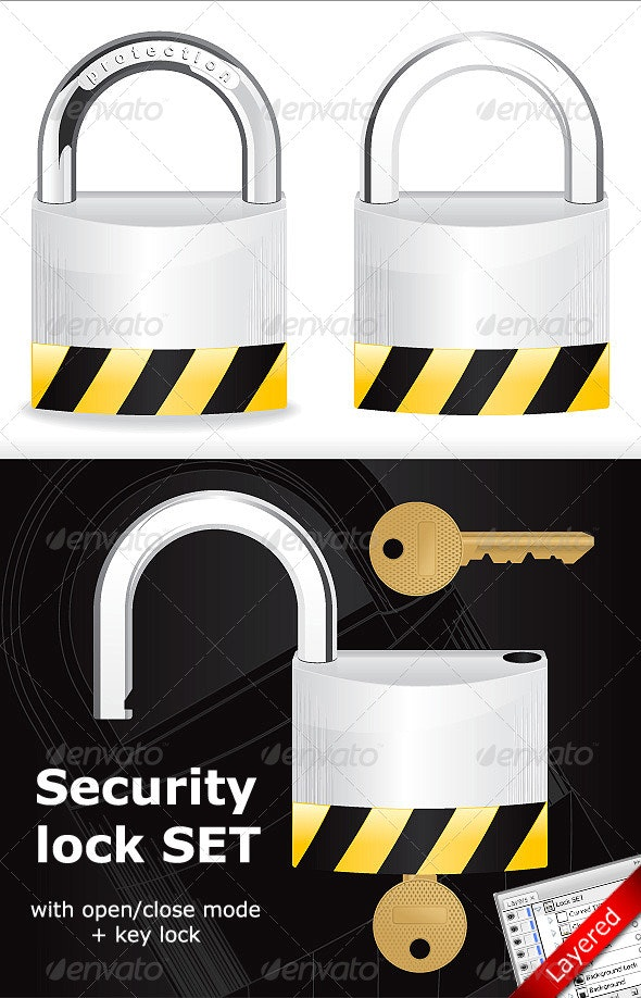 Security Lock - Objects Vectors