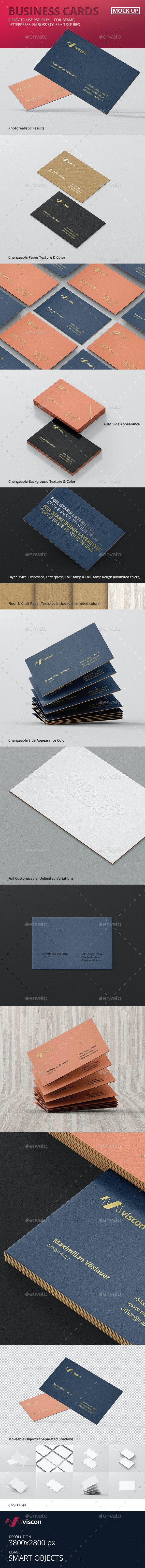 Business Cards Mock-Ups - Business Cards Print