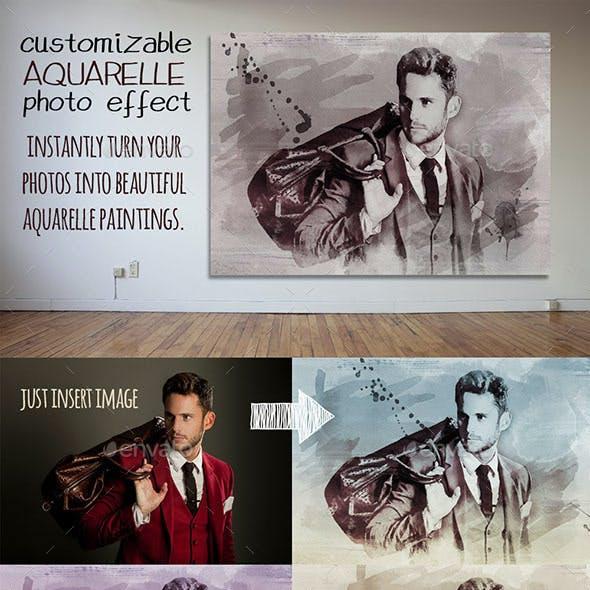 Customizable Aquarelle Photo Effect