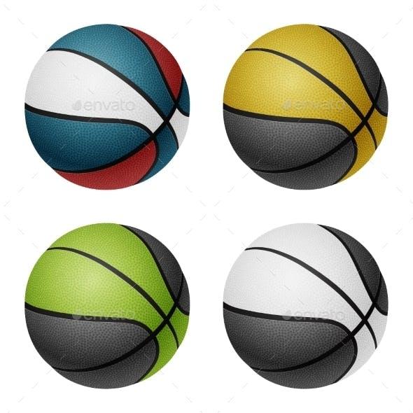 Combination Colored Basketballs