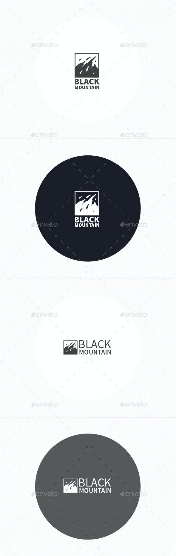 Black Mountain Logo - Nature Logo Templates