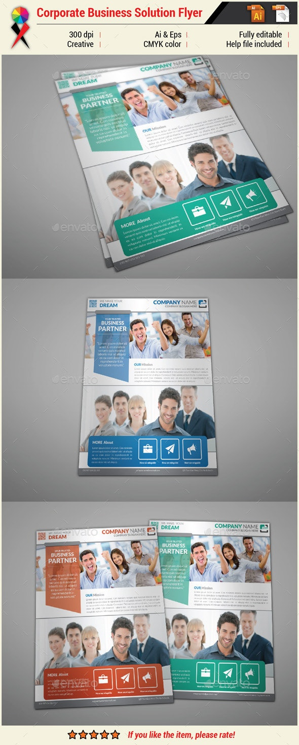 Corporate Business Flyer Print Template - Corporate Flyers
