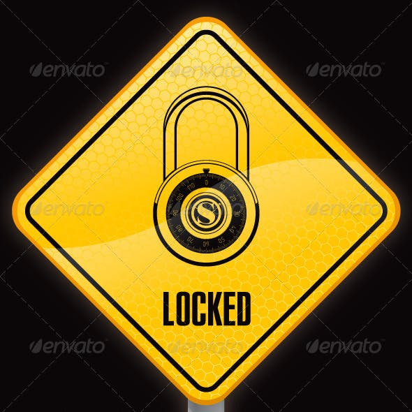 Sign with Lock