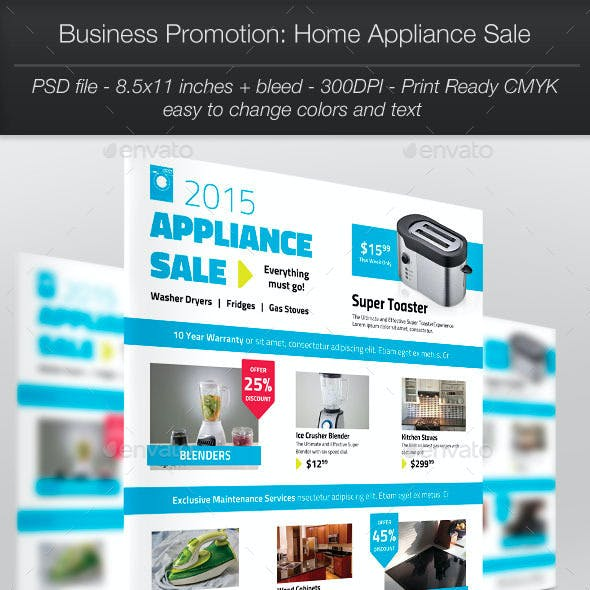 Business Promotion: Home Appliance Sale