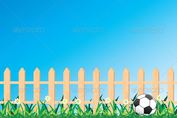 Ball and Fence - Nature Conceptual