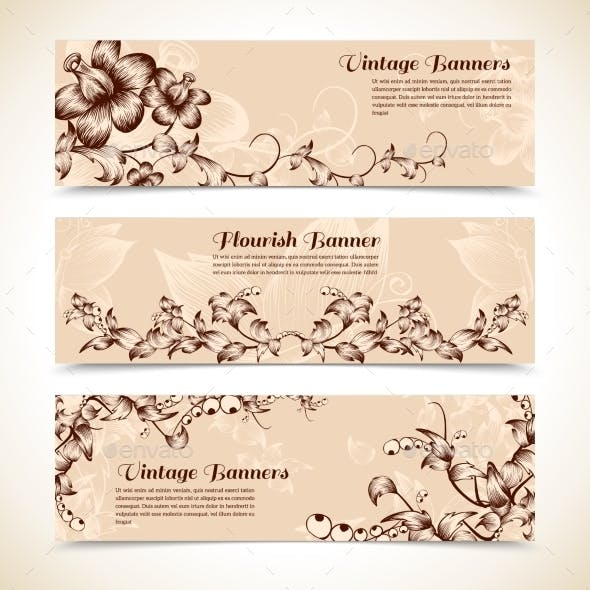 Vintage Ornate Flourish Banner