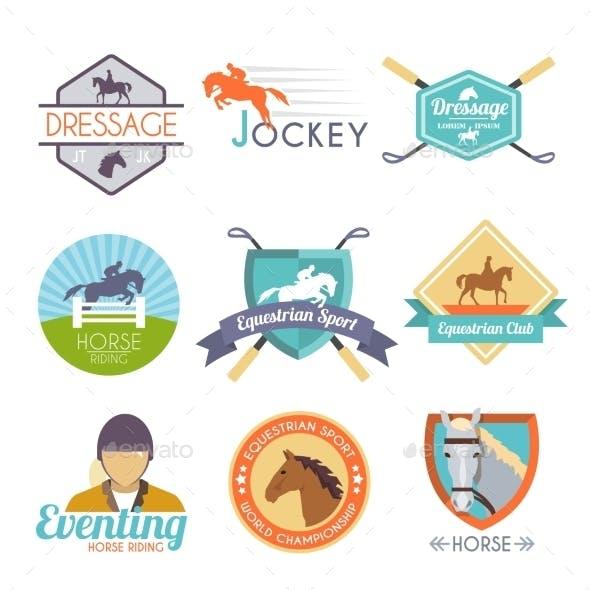 Jockey Label Set