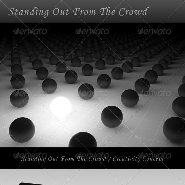 Standing Out From The Crowd / Creativity Concept