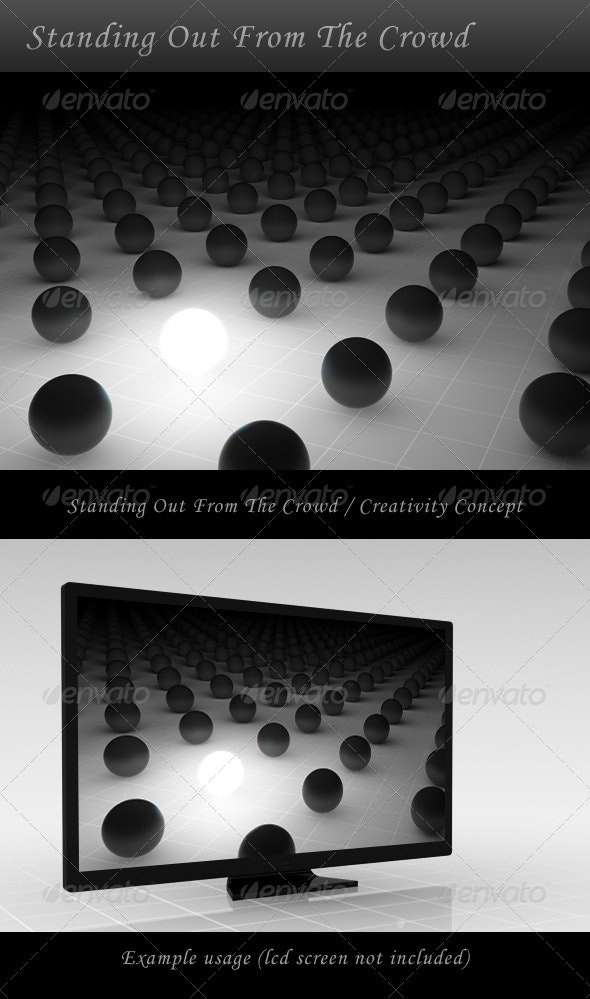 Standing Out From The Crowd / Creativity Concept - Business Backgrounds
