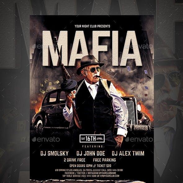 Mafia Party Flyer vol.2