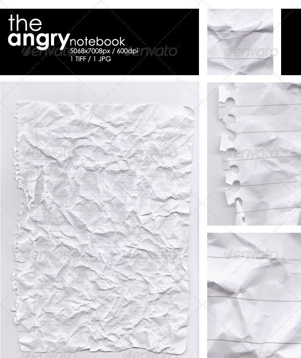 The Angry Notebook - Paper Textures