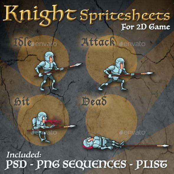 Cartoon Knight Sprites