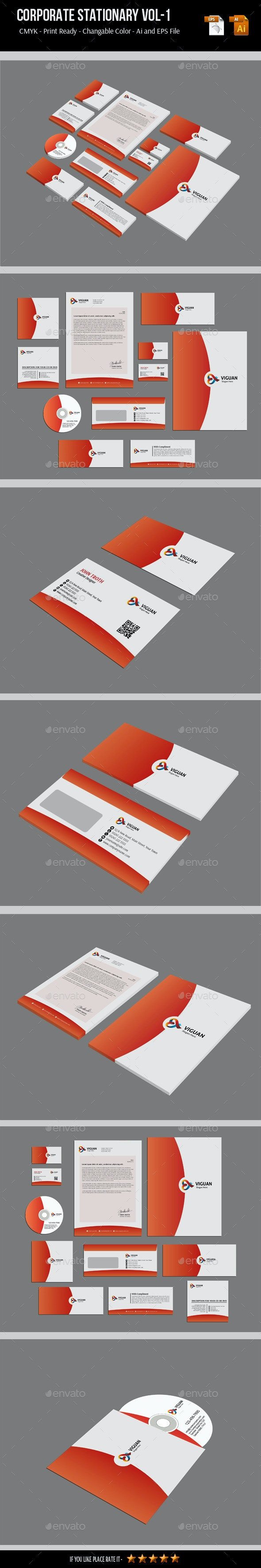 Corporate Stationary Vol-1 - Stationery Print Templates
