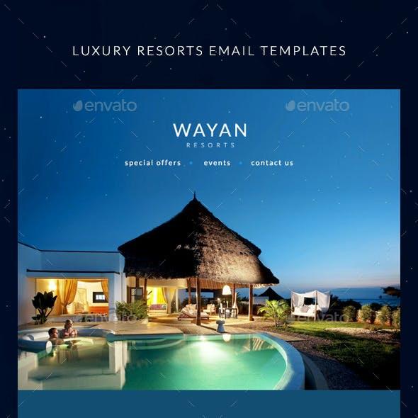 Resorts Email Templates - Wayan
