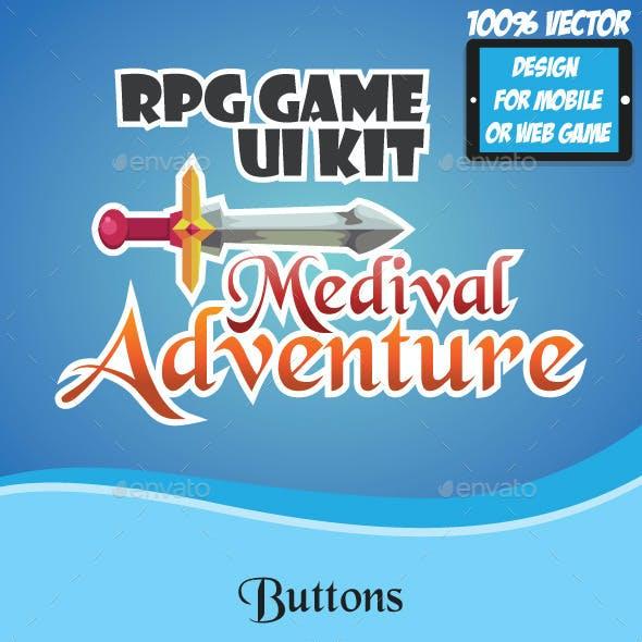 RPG Game UI Kit - Medieval Adventure