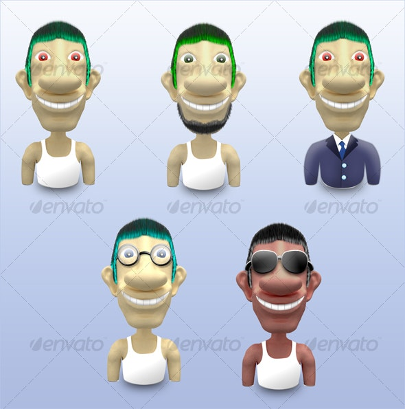 Happy Characters - Miscellaneous 3D Renders
